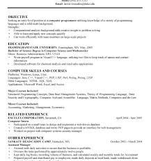 Sample Entry Level Project Manager by Ma Resume Examples Computer Technician Resume Samples Cover