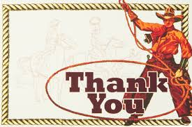 dolce western thank you card pack 8 cowboy cards