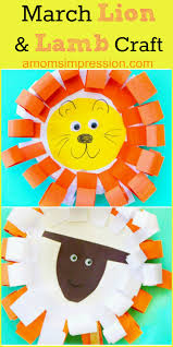 easy and adorable paper plate march lion and lamb craft