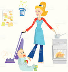 mother juggling household chores stock vector art 165071325 istock