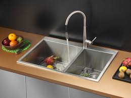 kitchen sink with faucet set ruvati rvc2403 stainless steel kitchen sink and stainless steel