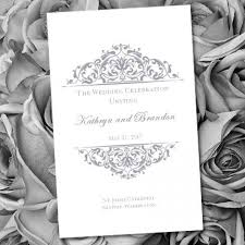 make your own wedding programs printable wedding program template grace gray make your own