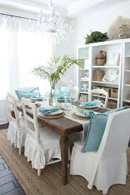 Aqua Dining Room An Early Coastal Style Dining Table Starfish Cottage