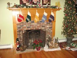 brick fireplace christmas decorations wpyninfo
