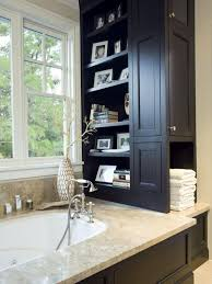 bathroom cabinet storage ideas solid side support white ceramic bathroom white varnished wooden drawer some drawers as hidden storage white varnished wooden legs metal frame