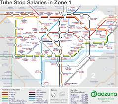 underground map zones new map reveals how much earn near each underground
