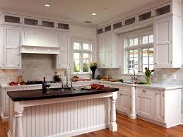 adding white beadboard kitchen cabinets