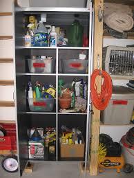 Garden Tool Storage Cabinets Garage Using A Locked Storage Cabinet To Organize Hazardous Items