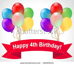 Happy Fourth Birthday Quotes 4th Birthday Stock Images Royalty Free Images Vectors