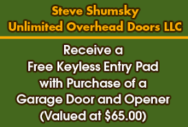 Overhead Door Keyless Entry Steve Shumsky Unlimited Overhead Door Service Llc In Hudson Nh