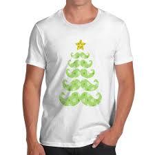 men u0027s moustache christmas tree graphic premium cotton t shirt ebay