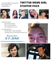 Meme Twitter - twitter meme girl starter pack starterpacks