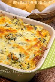 Main Dish With Sauce - spinach dip chicken casserole the midnight baker