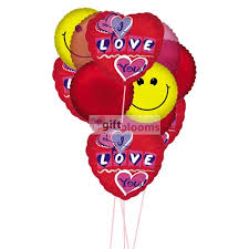 ballons delivery send this and pink heart balloons by showing how much you