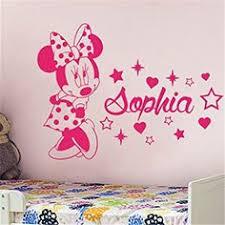decoration chambre minnie sticker chambre de fille je serai une fée thématique
