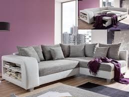 canapé violet convertible canapé d angle convertible tissu et simili kuopio gris et blanc