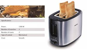 Toast In A Toaster Philips Hd2658 20 1200w Household Stainless Steel Toaster Bread