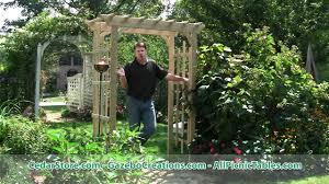 English Garden Pergola by Treated Pine Rose Arbor Pergola From Cedarstore Com Youtube
