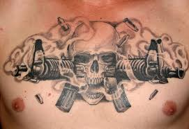 professional skull tattoos designs m16 skull by pisopez on
