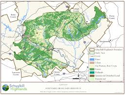Map Of Lancaster Pa Schuylkill Highlands Region Map Library A World Of Nature In Our