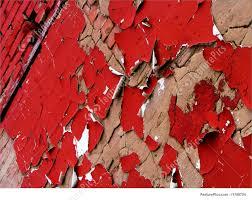peeling red wall image