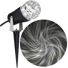 shop lightshow swirling white led kaleidoscope outdoor