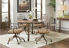 5 dining room sets alegra metal 5 pc dining set with beige top swivel