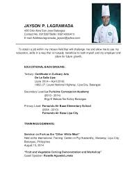 sample ng resume na tagalog mesmerizing resume for apprenticeship