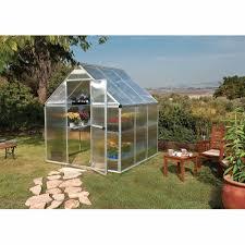 Greenhouse Palram Palram Nature Series Mythos 6 U0027 X 6 U0027 Hobby Greenhouse Silver Box