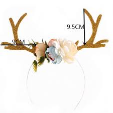 deer headband reindeer antlers headband christmas and easter party headbands diy