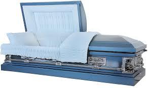 matthews casket 8331 18 light blue casket with light blue velvet interior