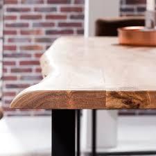 Esszimmer Akazie Weiss Baumkanten Tisch Für Esszimmer Akazie Veneca Wohnen De