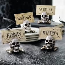 sketched skull card holders set of four grandin road
