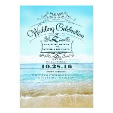 wedding invitations blue retro wedding invitations blue ombre seaside zazzle