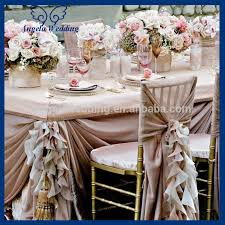 Cheap Chair Sashes Ch090b Popular Fancy Organza Wedding Wholesale Cheap Curly Willow