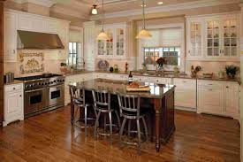 brown granite counter top of kitchen island with wooden base ideas