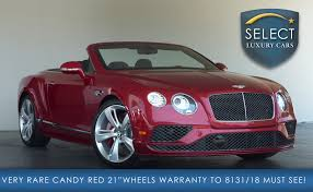 bentley red 2016 used 2016 bentley continental gt speed marietta ga