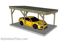 Attached Carport Plans Wood Carport Designs Myoutdoorplans Free Woodworking Plans And