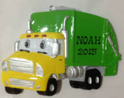 garbage truck personalized ornament ornament for