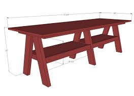 How To Build A Trestle Table Ana White Double Trestle Play Table Diy Projects