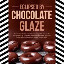 krispy kreme light hours chocolate glaze donuts at krispy kreme 8 19 8 21