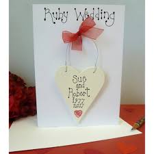 Card Factory Wedding Invitations Personalised Ruby Wedding Card By Country Heart