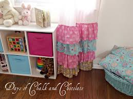 Pink Ruffle Curtains Panels by Girly Ruffled Curtains And Inspiration Days Of Chalk And Chocolate