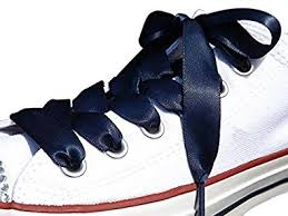 ribbon shoe laces high fashion navy satin ribbon shoe laces shoe