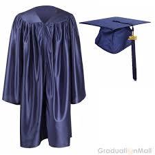 blue cap and gown kindergarten graduation cap gown package navy blue