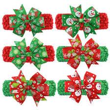 christmas bows for sale newborn crochet flower hair bands online newborn crochet flower