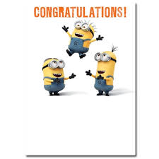 doctor who congratulations card despicable me minion congratulations card danilo