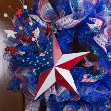 Red White Flag With Blue Star 12