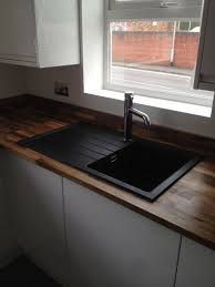 Best  Black Sink Ideas On Pinterest Floating Shelves Kitchen - Black granite kitchen sinks