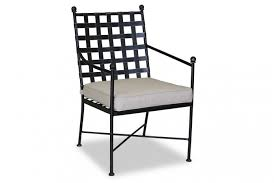 White Outdoor Dining Chairs Provence Outdoor Dining Chair Wrought Iron